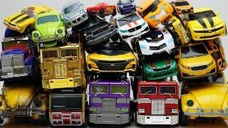 Full Transformers Stop motion - Optimus Prime, Bumblebee, Tobot Robot & Lego Animation Car Kids Toys