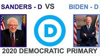 Bernie Sanders vs Joe Biden | 2020 Democratic Primary | Epic Primary Battle - Down to the wire