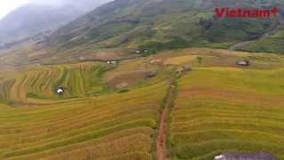 Cảnh đẹp vùng núi Tây Bắc từ góc nhìn trên cao (FLYCAM)