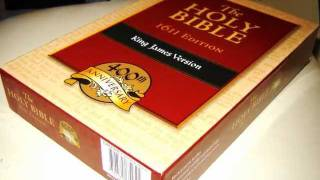 The Holy Bible - 1611 Edition King James Version 400th Anniversary Black Genuine Leather
