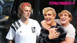 Justin Bieber Is Asked About Collaborating With Jake Paul, Logan Paul & RiceGum At Fatburger 4.7.18