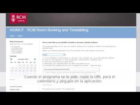 ASIMUT: El feed de calendario (iCal)