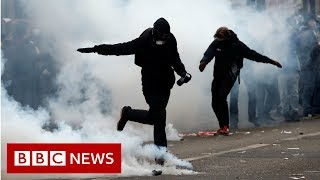 France paralysed by biggest strike in years - BBC News