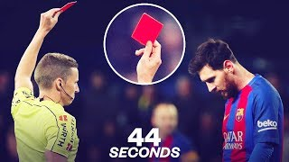 Lionel Messi's one and only red card! - Oh My Goal
