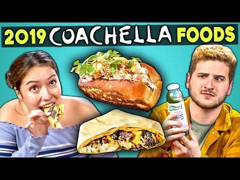 Adults Try 2019 VIP Coachella Foods   People Vs. Food