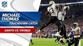 Drew Brees' Perfect TD Pass to Michael Thomas to Cut Lead | Saints vs. Vikings | NFL Divisional HLs