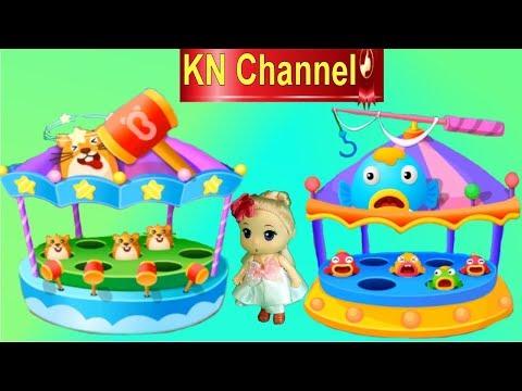 Trò chơi KN Channel BÚP BÊ VÀ CHUYẾN NGHỈ HÈ THÚ VỊ P1 | CÂU CÁ FISHING GAME ĐẬP CHUỘT
