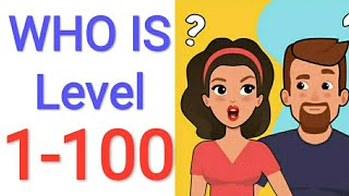 Jawaban Game WHO IS Level 1 - 100