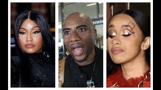 "Charlamagne Tha God a ""STRAIGHT HYPOCRITE"" & CAT RIDING Cardi B. after her RUN-IN with Nicki Minaj!"