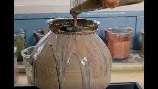Pottery pouring technique!