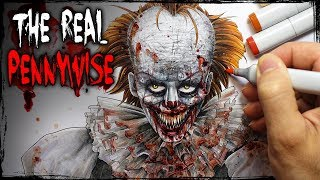 """The REAL Pennywise"" Creepypasta Story + Drawing 🎈🤡 (Scary Clown Stories)"