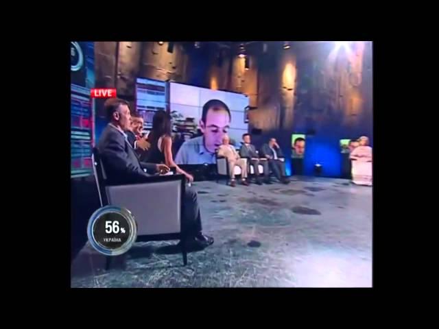 Прорыв правды на «Шустер Live», укры от неожиданности отложили кирпичную кладку