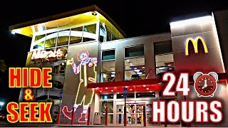 24 HOUR OVERNIGHT CHALLENGE IN WORLD'S BIGGEST MCDONALDS!!(*HIDE & SEEK*)