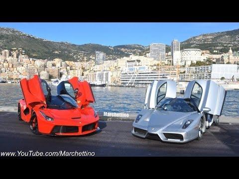 LaFerrari et Ferrari Enzo sur une route de montagne