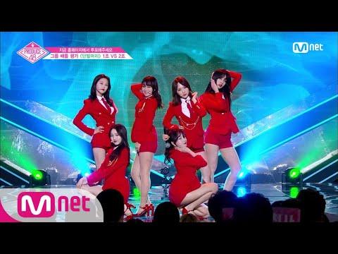 [ENG sub] PRODUCE48 [단독/4회] '쳐다만 봐도 매력이 뿜뿜' 빼꼼빼꼼ㅣAOA ♬단발머리_1조 @그룹 배틀 180706 EP.4