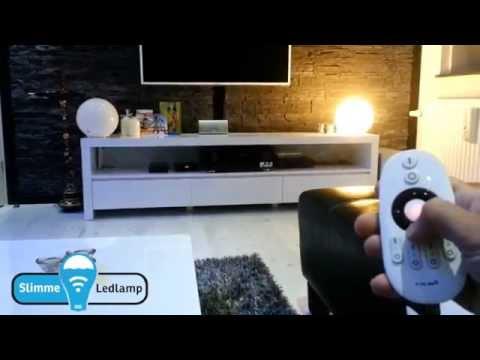 Wifi led lampen(wit) bedienen met RF Afstandsbediening Demonstratie
