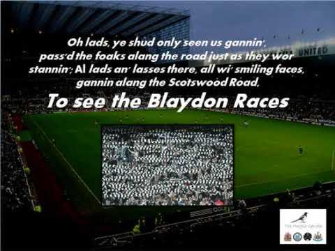 blaydon races lyrics youtube