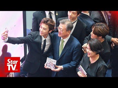 Lucky fans meet K-pop boy group NCT