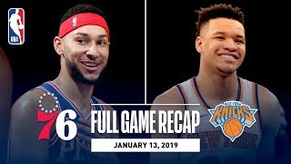 Full Game Recap: 76ers vs Knicks | Ben Simmons Records First 20-20 Game
