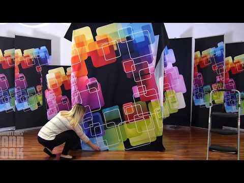 Embrace Push Fit Tension Fabric SEG Pop Up Display Set Up