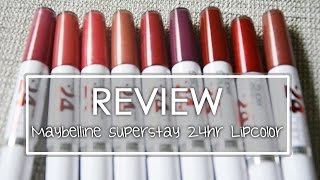 REVIEW - Maybelline Super Stay 24hr Lipcolor