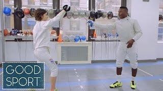 Watch Olympic Silver Medalist Daryl Homer School Us In Saber Fencing