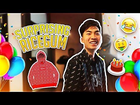 SURPRISING RICEGUM FOR HIS 21st BIRTHDAY