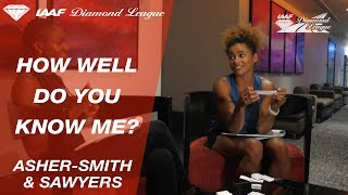 "Dina Asher-Smith and Jazmin Sawyers play ""How Well Do You Know Me"" - Episode 2 - IAAF Diamond League"