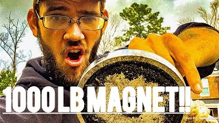 1000lb MAGNET!! FISHING WITH AMAZONS STRONGEST MAGNET!!!