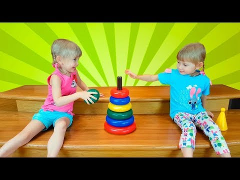 Funny Kids Alena & Pasha Pretend Play with toys Video for children collection by Chiko TV