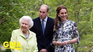 Queen Elizabeth visits Duchess Kate's garden l GMA