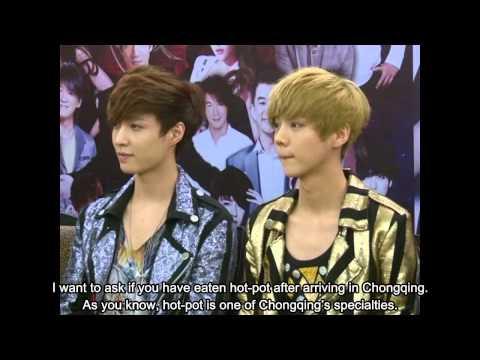 [HD][Eng Sub]121209 Jiangsu TV New Year Countdown Concert Press Conference EXO-M Cut