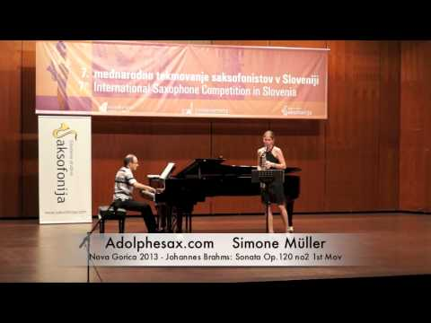 Simone Müller - Nova Gorica 2013 - Johannes Brahms: Sonata Op 120 no2 1st Mov