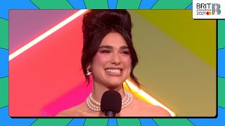 Dua Lipa wins Female Solo Artist | The BRIT Awards 2021