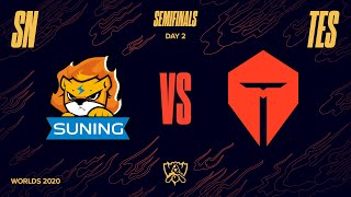 SN vs TES | Semifinal Game 1 | World Championship | Suning vs. Top Esports (2020)