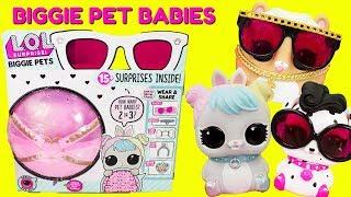 LOL Surprise Biggie Pets Pet Babies Or Food Babies? Dollmation, Hop Hop, MC Hammy