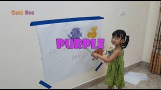Bé Gato Đi Học Tập 2   Bé Làm Họa Sĩ Nhí và Học Màu Sắc Tiếng Anh