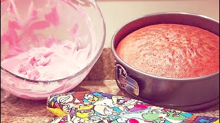 How to Make a Pink Cake | MANCAKE