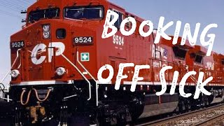 Drunk guy gets called into work! CP Rail BOOKING OFF - True Comedy