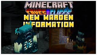 This NEW Warden Information REVEALS A LOT | Minecraft 1.17 Caves & Cliffs Update