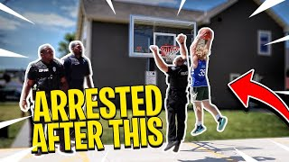 I POSTERIZED A COP! King Of The Court Basketball!