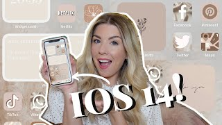 *IOS14 AESTHETIC TUTORIAL* HOW TO CUSTOMISE YOUR IPHONE // Widgets, Shortcuts & Icons