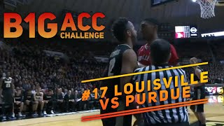 B1G vs ACC Challenge: Tempers flare #17 Louisville vs un-ranked Purdue full game highlights 11.28.17
