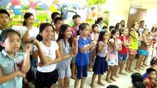 Jesus Christ King Of All Kids Ministry - Team Joy dancing Deep, deep, deep