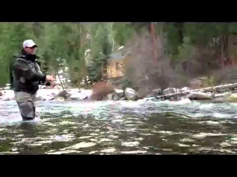 Pro Flyfishermen Riley Cotter and Brian Schmidt fishing on The Big Thompson