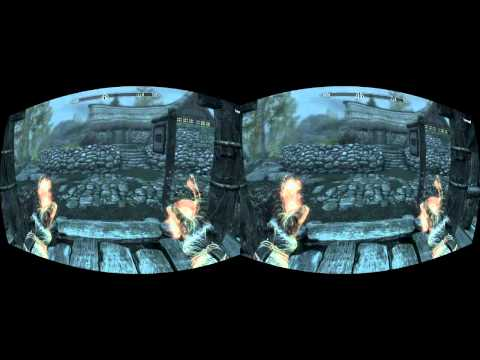 Vireio Perception: Skyrim in Stereo-Render-Mode; FIRST TEST