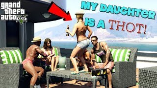 """MY DAUGTHER A THOT, MY SON IS A LOSER! ( FUNNY """"GTA 5"""" STORYMODE GAMEPLAY #4)"""