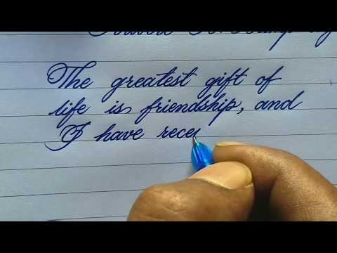 How to write neat handwriting l handwriting is like print l Calligraphy