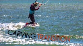 Carving Turns / Transitions (twintip kitesurf / kiteboard tutorial)