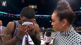Kyrie Irving Gets Emotional Talking about Kobe Bryant - Pistons vs Nets | January 19, 2020